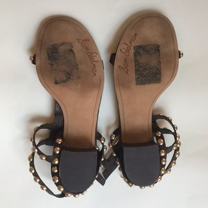 Sam Edelman Shoes - Sam Edelman Asbury Studded Block Heel Sandals cork